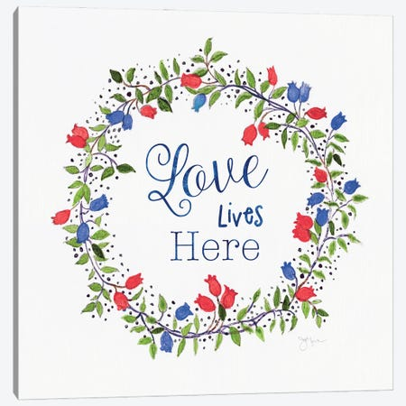 Americana Summer Love Canvas Print #TAV237} by Tava Studios Canvas Art Print