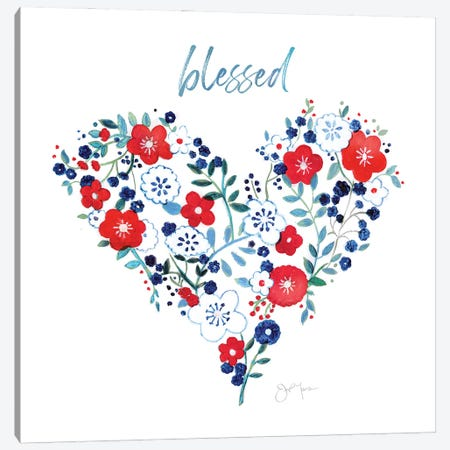 Blessed Heart Canvas Print #TAV238} by Tava Studios Canvas Wall Art