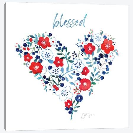 Blessed Heart Canvas Print #TAV238} by Tava Studios Canvas Wall Art