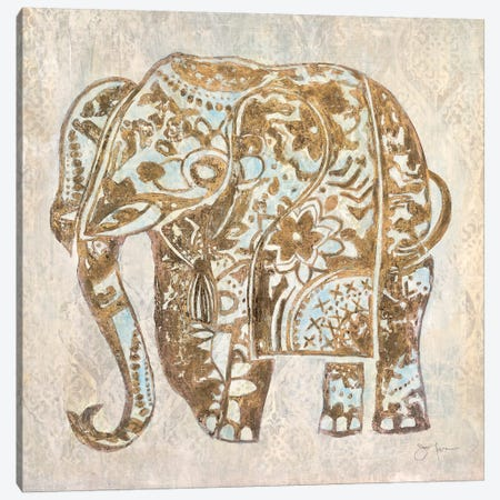 Boho Elephant Canvas Print #TAV23} by Tava Studios Canvas Art