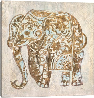 Boho Elephant Canvas Art Print