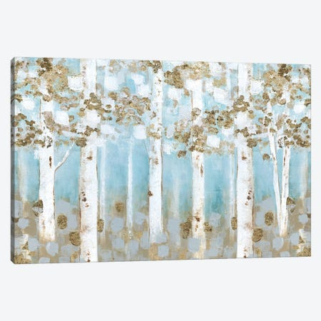 Golden Birch Grove Canvas Print #TAV243} by Tava Studios Art Print