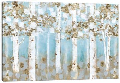 Golden Birch Grove Canvas Art Print