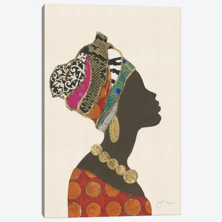 African Silhouette Woman I Canvas Print #TAV250} by Tava Studios Canvas Artwork