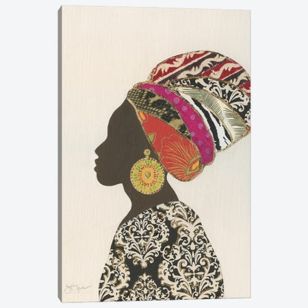 African Silhouette Woman II Canvas Print #TAV251} by Tava Studios Canvas Art