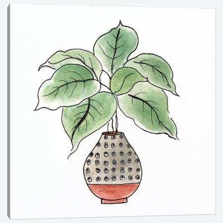 Boho Greenery I Canvas Print #TAV258} by Tava Studios Canvas Art