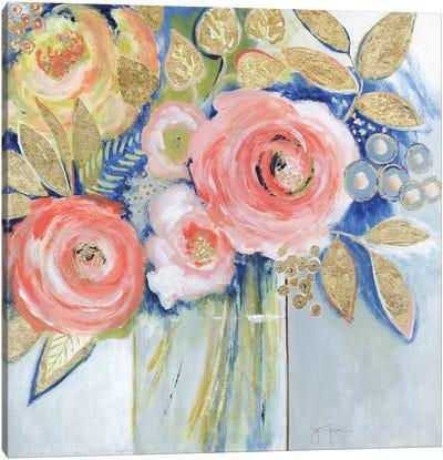 Peach Metallic Bling Canvas Art Print