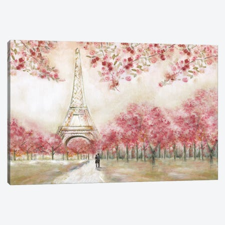 Spring In Paris Canvas Print #TAV277} by Tava Studios Art Print