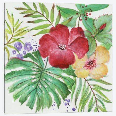 Tropical Blooms Canvas Print #TAV278} by Tava Studios Canvas Artwork