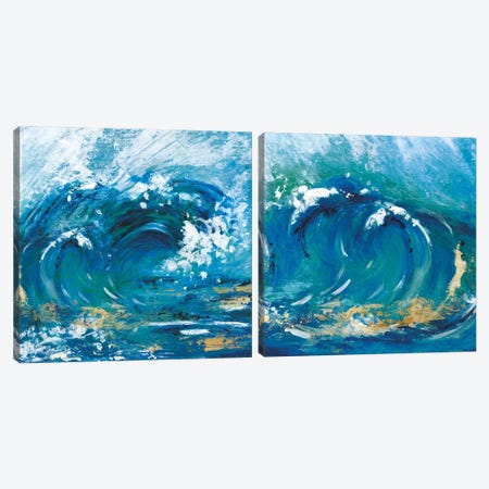 Big Surf Diptych Canvas Print Set #TAV2HSET001} by Tava Studios Canvas Art Print