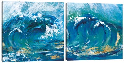 Big Surf Diptych Canvas Art Print