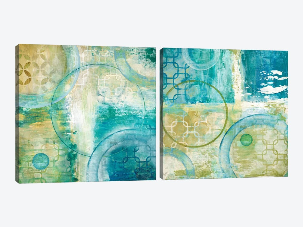 Teal Aire Diptych by Tava Studios 2-piece Canvas Art Print