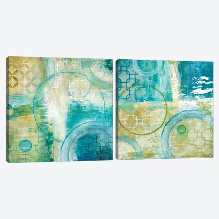 Teal Aire Diptych Canvas Print Set #TAV2HSET002} by Tava Studios Art Print
