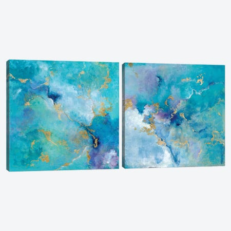 Golden Edge Diptych Canvas Print Set #TAV2HSET004} by Tava Studios Canvas Art
