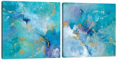 Golden Edge Diptych Canvas Art Print