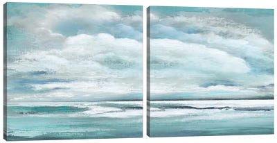Billowing Clouds Diptych Canvas Art Print