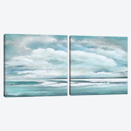 Billowing Clouds Diptych Canvas Print Set #TAV2HSET006} by Tava Studios Canvas Art