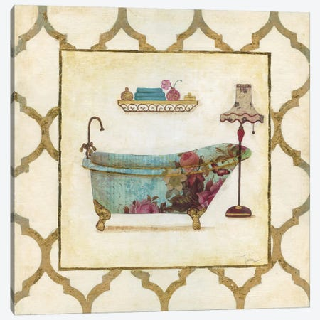 Botanical Bath I Canvas Print #TAV3} by Tava Studios Canvas Print