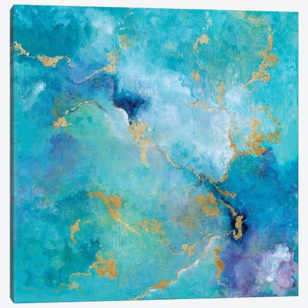 Golden Edge I Canvas Print #TAV51} by Tava Studios Art Print