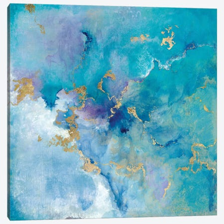 Golden Edge II 3-Piece Canvas #TAV52} by Tava Studios Art Print