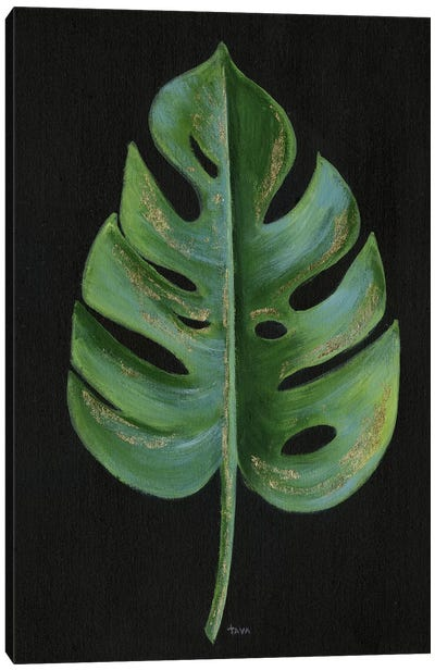 Midnight Philodendron Canvas Art Print