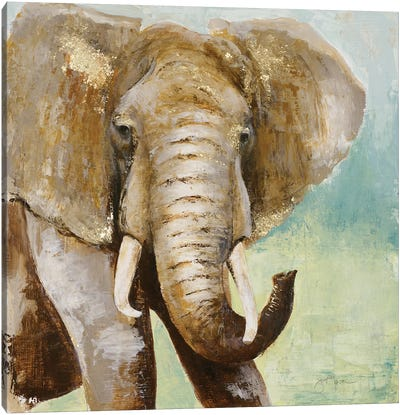Painterly Elephant Canvas Art Print