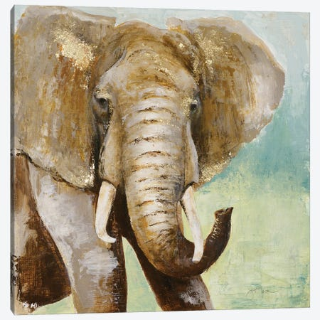 Painterly Elephant Canvas Print #TAV57} by Tava Studios Canvas Art