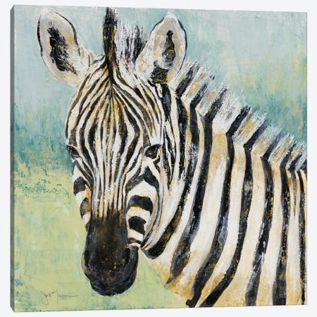 Painterly Zebra Canvas Print #TAV58} by Tava Studios Art Print