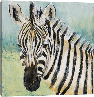 Painterly Zebra Canvas Art Print