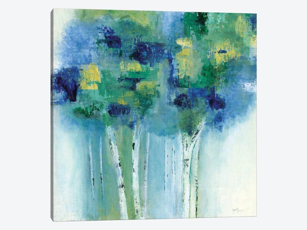 Birch In Blues by Tava Studios 1-piece Canvas Art