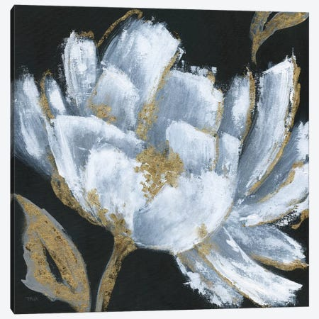 Midnight Bloom Canvas Print #TAV80} by Tava Studios Canvas Art