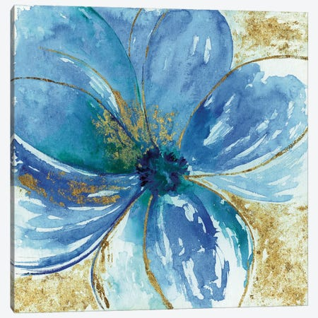 Nigella Blue 3-Piece Canvas #TAV81} by Tava Studios Canvas Artwork