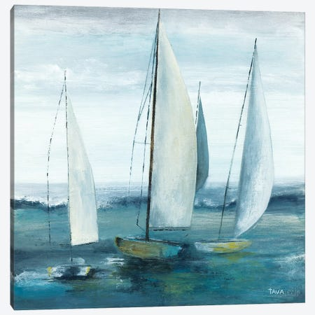 Out To Sea 3-Piece Canvas #TAV82} by Tava Studios Canvas Artwork