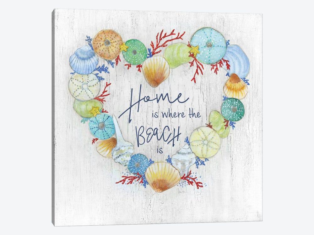 Seashell Heart by Tava Studios 1-piece Canvas Art Print
