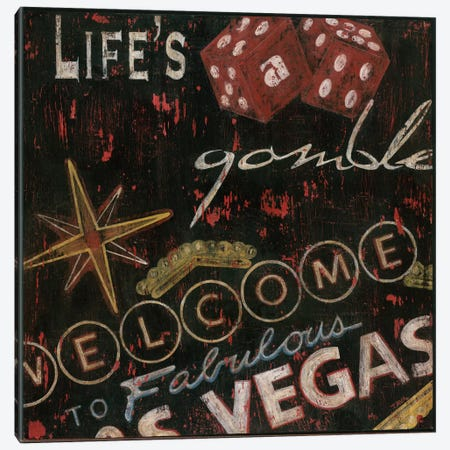 Life's a Gamble Canvas Print #TAV8} by Tava Studios Canvas Print