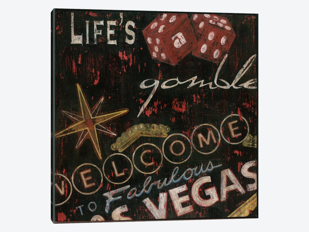 Life's a Gamble by Tava Studios 1-piece Canvas Artwork