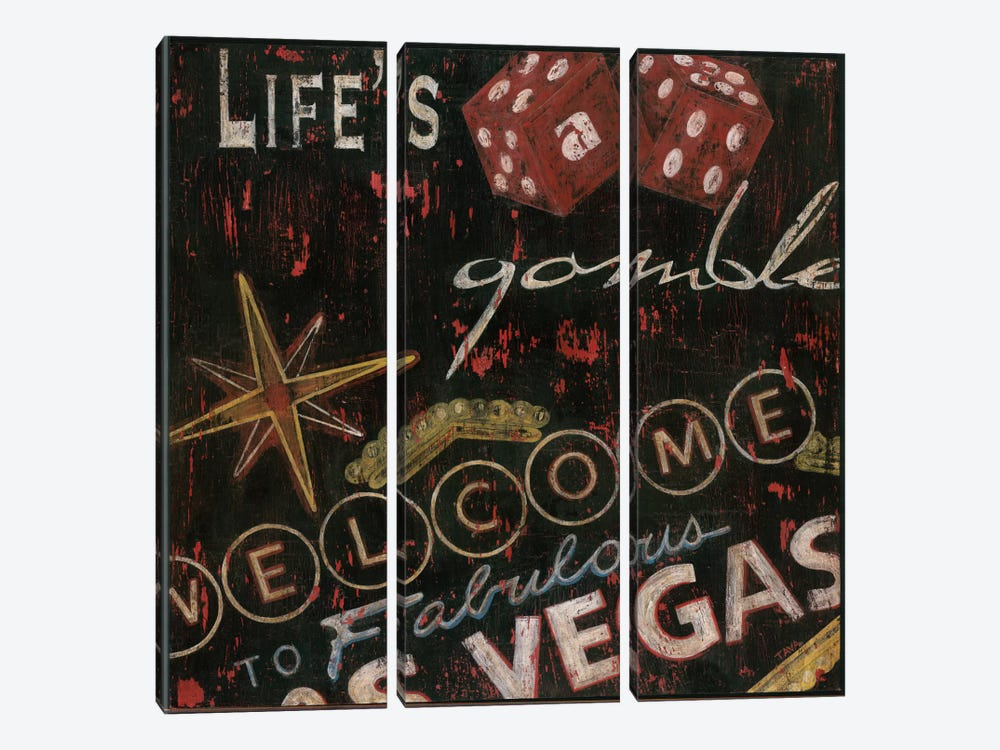 Life's a Gamble by Tava Studios 3-piece Canvas Art