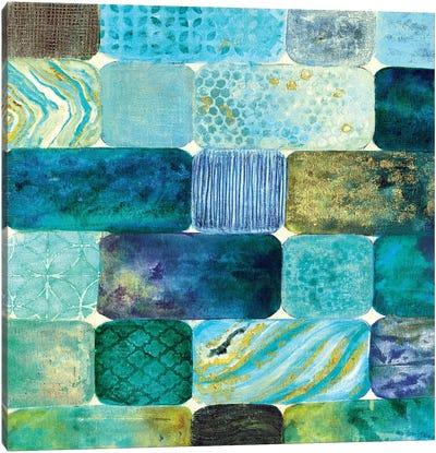 Arranging Sea Glass Canvas Art Print