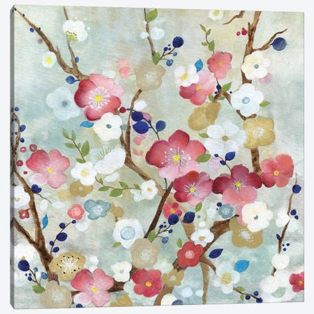 Cherry Blossoms Canvas Print #TAV94} by Tava Studios Canvas Artwork
