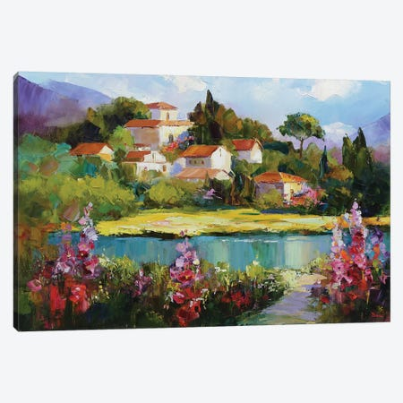 Sound Of Floral Canvas Print #TAY120} by Tatyana Yabloed Canvas Wall Art