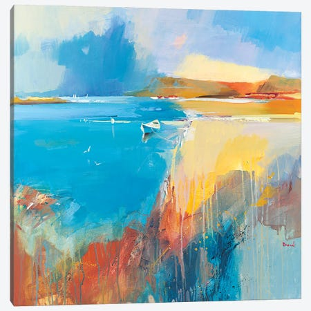 Just Summer 3-Piece Canvas #TAY155} by Tatyana Yabloed Canvas Artwork