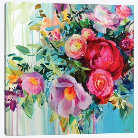 Flower Heart Canvas Print #TAY175} by Tatyana Yabloed Canvas Wall Art