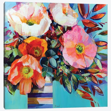 Floral Shock Canvas Print #TAY176} by Tatyana Yabloed Canvas Artwork