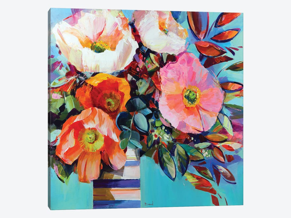 Floral Shock by Tatyana Yabloed 1-piece Canvas Wall Art