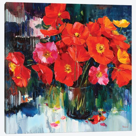 Flowers Fragrance Canvas Print #TAY191} by Tatyana Yabloed Canvas Print