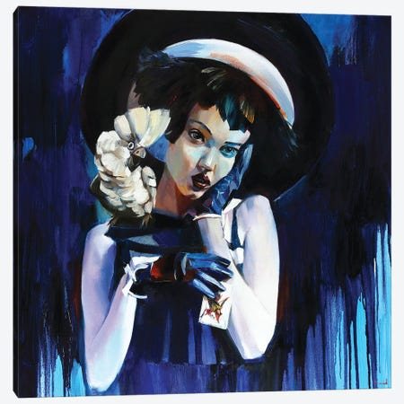 Joker Canvas Print #TAY193} by Tatyana Yabloed Art Print