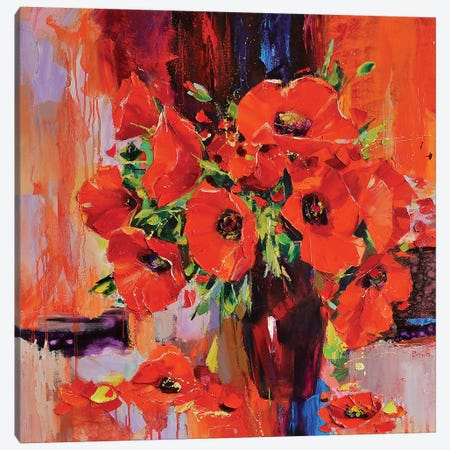 The Red Dragonflies 3-Piece Canvas #TAY32} by Tatyana Yabloed Canvas Artwork