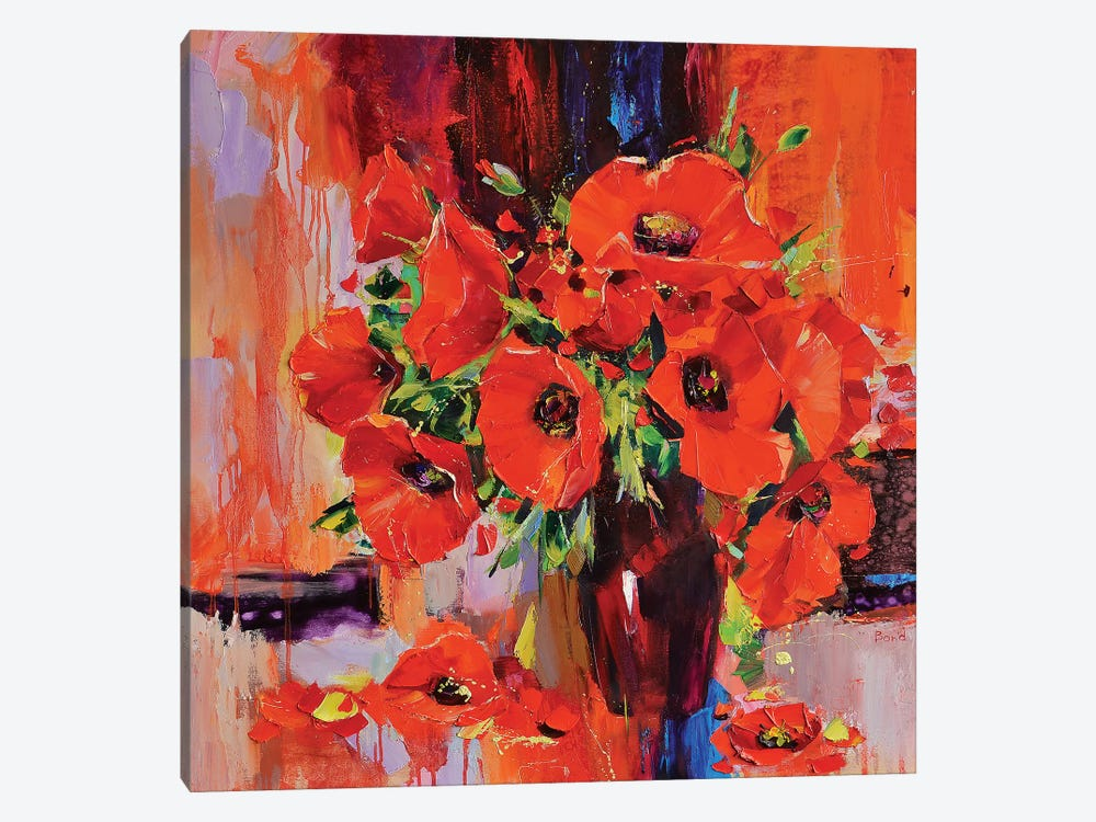 The Red Dragonflies 1-piece Canvas Artwork