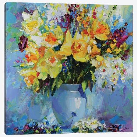 A Drop Of Morning Dew 3-Piece Canvas #TAY48} by Tatyana Yabloed Canvas Art Print