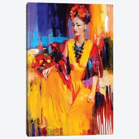 Heartbeat Of Gold Canvas Print #TAY7} by Tatyana Yabloed Canvas Print